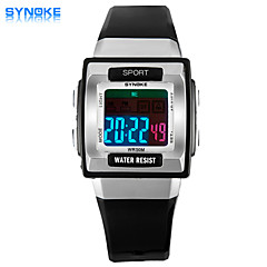 SYNOKE Men's Square Dial Casual Watch PU Strap 50 Meter Swimming waterproof Fashion Wrist Watch (Assorted Colors)