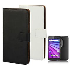 Voor Motorola hoesje Portemonnee / Kaarthouder / Flip hoesje Volledige behuizing hoesje Effen kleur Hard PU-leer Motorola