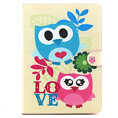 For Samsung Galaxy Case Card Holder / with Stand / Flip / Pattern Case Full Body Case Owl PU Leather SamsungTab 4 10.1 / Tab 4 7.0 / Tab