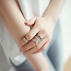 Pierścionki Ślub / Impreza / Codzienny / Casual Biżuteria Stop Damskie Pierścionki na palec środkowy 1set,6 Brązowy / Srebrne