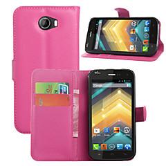 Brieftasche Flip PU-Leder-Handy-Fallabdeckung für Wiko barry / Wiko First / Wiko Ausflüge / Wiko Wachs / Wiko goa