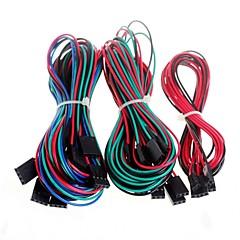 14pcs câbles de câblage complets pour imprimante 3D RepRap rampes de moteur 1.4 butées thermistances