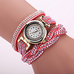 Xu™ Women's Korea Velvet Around Rivets Bracelet Quartz Watch Cool Watches Unique Watches Fashion Watch