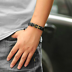 Anchor Alloy/Leather  Leather Bracelets Daily/Casual 1pc