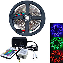 5M 300X3528 SMD RGB LED Strip Light and 24Key Remote Controller and 2A EU Power Supply (AC110-240V/5M)