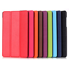8 tuuman kolminkertainen taittuvat kuvio korkealaatuisia PU nahka seistä tapauksessa Huawei MediaPad m2 (eri värejä)