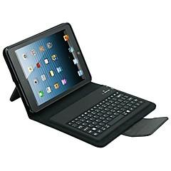 estojo de couro pu com teclado para o ipad air