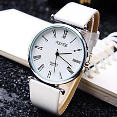Men's Business Trend Round Rome Number Dial PC Movement Leather Strap Fashion Quartz Watch (Assorted Colors)