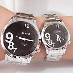 Couples Fashion Steel Belt  Quartz Wrist Watch