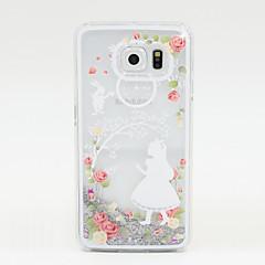 festett ezüst homok PC Phone ügy galaxy S6 / S5 / S4
