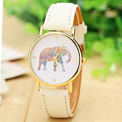 mulheres moda relógio elefante couro relógio cinta para as mulheres se vestem relógios relógios de quartzo