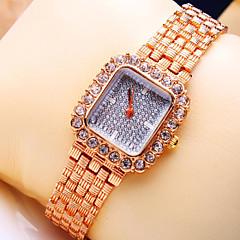 Women's New Luxury Trend Square Diamond Dial Fashion Quartz Bracelet Watch (Assorted Colors)
