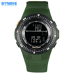 SYNOKE Men's Round Dial Casual Watch PU Strap 50 Meter Swimming waterproof Fashion Wrist Watch (Assorted Colors)