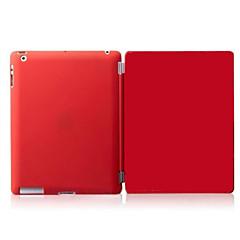 ipad 2 / ipad 4 / ipad 3 kompatible feste Farbe PU-Leder aufwachen intelligente Fallabdeckung s mit Rückfällen
