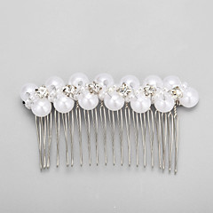 Imitation Pearl / Rhinestone Hair Combs Wedding / Party 1set