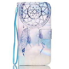 corak Campanula pu kulit telefon kes untuk galaksi s3 / s4 / s5 / s6 / s6 kelebihan / galaksi s6 pinggir plus / s3 s4 mini mini / mini /