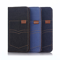 Voor iPhone 6 hoesje / iPhone 6 Plus hoesje Portemonnee / met standaard / Flip hoesje Volledige behuizing hoesje Effen kleur Zacht Textiel