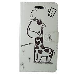 For Samsung Galaxy etui Kortholder Med stativ Flip Mønster Magnetisk Etui Heldækkende Etui Dyr Kunstlæder for Samsung A5 A3