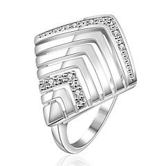 טבעות אופנתי חתונה / Party / יומי / קזו'אל תכשיטים מצופה כסף נשים טבעות רצועה 1pc,8 כסף