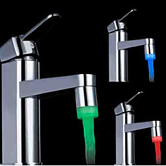 rgb szín hőmérséklet-szabályozás univerzális adapter vezetett mosogató csaptelep nozzl (vízhőmérséklet változása)