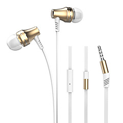 Langsdom A2 Fashion Magnet Metal earphone In-ear Square Wire with Microphone Volume Control Headphone