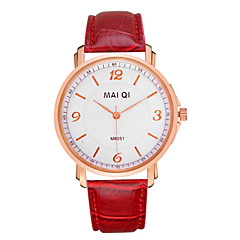 Men's Leather Band Quartz Wristwatch Wrist Watch Cool Watch Unique Watch