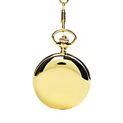 enkel stil oval form legering lommeur nøglering (guld) (1 stk)
