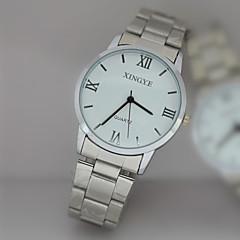 L.WEST Men's Steel Belt Analog Quartz Watch Cool Watch Unique Watch