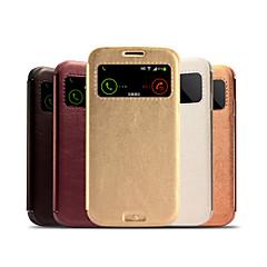 ultra-dünnen einfarbig capa PU-Leder + pc Sichtfenster Flip Ganzkörper-Fall mit Ständer für Galaxy S4 i9500