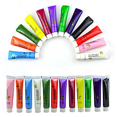 1 SET 12 Colors Painting Acrylic 3D Nail Art Paint Tube Draw Newest Brand New Nail Art Tip UV Gel