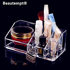 Akril Transparent Stand Kozmetika Storage Makeup Brush Pot Kvadrat Kozmetički Organizator