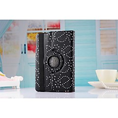New Arrival Fashion Flower 360 Rotate Pu leather Case Cover Auto Sleep/Wake Up for ipad Air