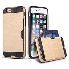 Για Θήκη iPhone 6 / Θήκη iPhone 6 Plus Θήκη καρτών / Ανθεκτική σε πτώσεις tok Πίσω Κάλυμμα tok Πανοπλία Σκληρή TPU για AppleiPhone 7 Plus
