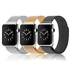 Loop milanês para relógio de maçã pulseira de aço inoxidável com fivela magnética forte