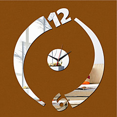 Acrylic 3D Mirror Home Decor Wall Clock Mirror Surface Sticker