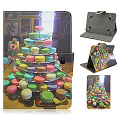 Biscuits Pattern High Quality PU Leather with Stand Case for 7 Inch Universal Tablet