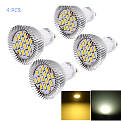 7W GU10 Focos LED MR16 15 SMD 5630 700 lm Blanco Cálido / Blanco Fresco Decorativa AC 85-265 V 4 piezas