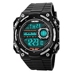 Hommes Bracelet Montre Numérique LCD / Calendrier / Chronographe / Etanche / penggera / Montre de Sport Caoutchouc Bande Noir Marque-