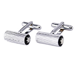 Silver Twill Patterns, Men's Cufflinks