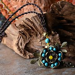 Elegant Flower Alloy / Agate / Gem Necklace Pendant Necklaces 1pc