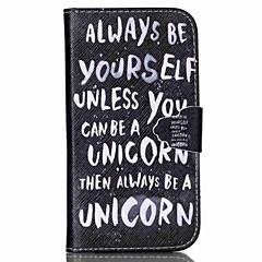 είσαι ο εαυτός σου μοτίβο PU δερμάτινη θήκη με υποδοχή κάρτας και του εκλέγεσθαι για το Samsung Galaxy S4 mini / s3mini / s5mini / S3 / S4