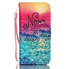 Never Stop Dream Painted PU Phone Case for iPhone 7 7 Plus 6s 6 Plus SE 5s 5c 5 4s 4