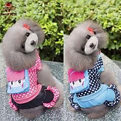 Perros Abrigos Mono Azul Rosa Ropa para Perro Invierno Primavera/Otoño Lunares Casual/Diario