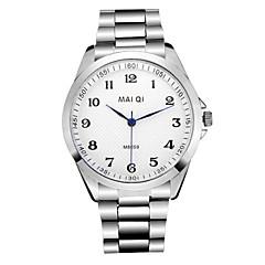 Herr Armbandsur Quartz Rostfritt stål Band Silver Stämpla-