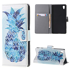 For Sony Case / Xperia Z5 Wallet / Card Holder / with Stand / Flip Case Full Body Case Fruit Hard PU Leather for Sony Sony Xperia Z5