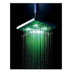 8 inç krom renkli led duş başlığı yağmur duş