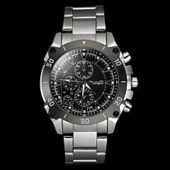 Men's Casual Silver Alloy Quartz Wrist Watch