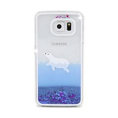 For Samsung Galaxy Case Flowing Liquid Case Back Cover Case Cartoon PC Samsung S6 edge / S6