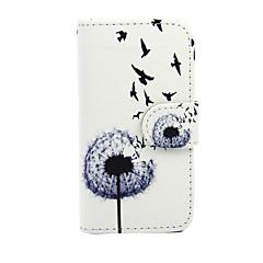 Mert Nokia tok Pénztárca / Kártyatartó / Állvánnyal Case Teljes védelem Case Pitypang Kemény Műbőr Nokia Nokia Lumia 635