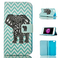 For iPhone 6 Case / iPhone 6 Plus Case Card Holder / with Stand / Flip Case Full Body Case Elephant Hard PU LeatheriPhone 6s Plus/6 Plus